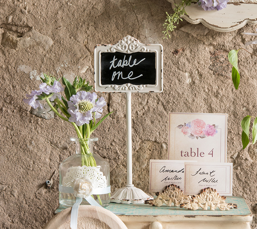 Blackboard Wedding Sign Ideas - Vintage Wedding Ideas - Antique Tall Blackboard | Confetti.co.uk