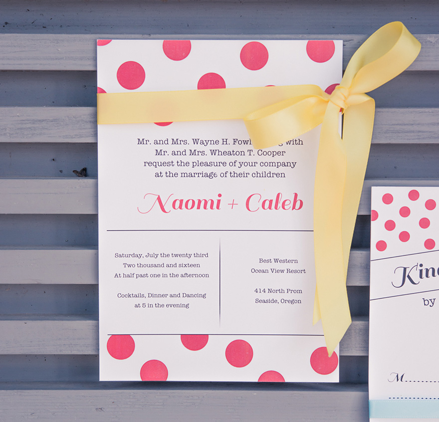 Candy Colourful Wedding Stationery - Polka Dot Wedding Ideas - Red Polka Dot Wedding Stationery - Colourful Wedding Stationery - Red and Yellow Wedding Colour Scheme | Confetti.co.uk