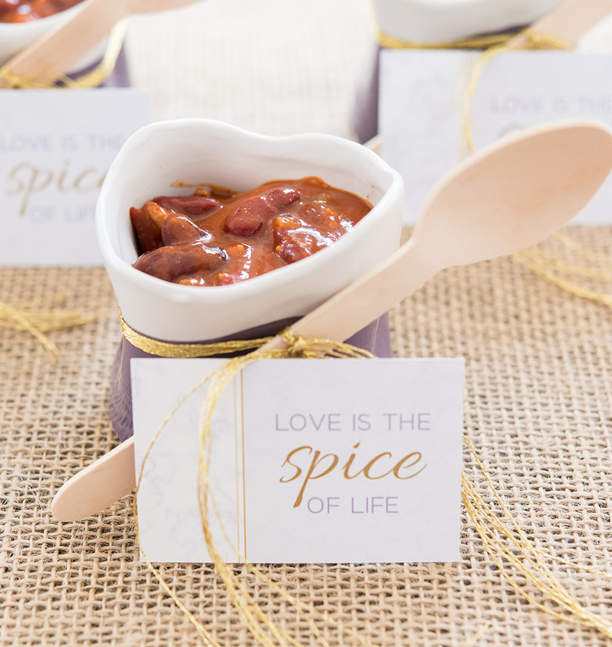 Geo Marble Flat Place Card - Love is the Spice of Life - Lavender Wedding Place Cards | Confetti.co.uk