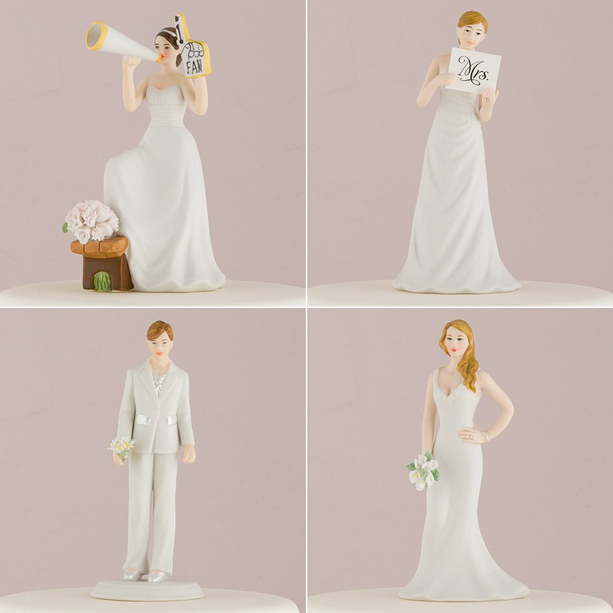 Mix and Match Bride Cake Toppers | Confetti.co.uk