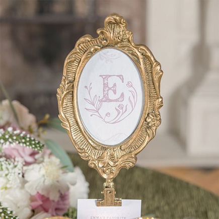 Oval Baroque Standing Frame in Metallic Gold - Ornate Wedding Decor Ideas - Fairytale Wedding Ideas | Confetti.co.uk