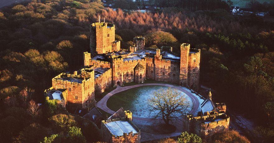 Peckforton Castle Cheshire Wedding Venue - Medieval Castle Style Victorian Country House - Castle Winter Sunset - Beautiful Wedding Venues in Cheshire | Confetti.co.uk