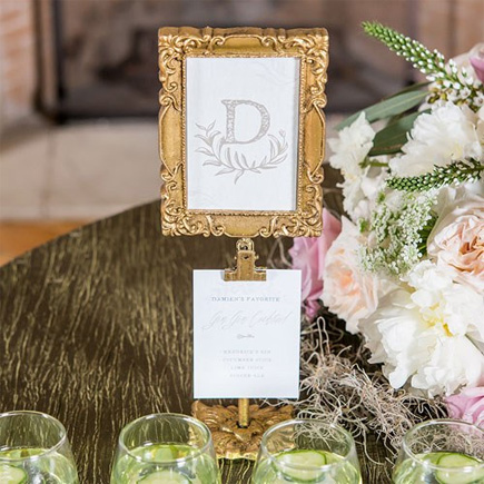 Rectangular Baroque Standing Frame in Metallic Gold - Beautiful Fairytale Wedding Ideas | Confetti.co.uk