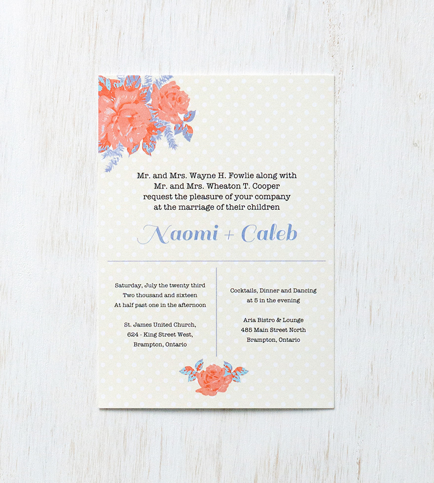 Retro Rose Wedding Invitations - Retro Vintage Wedding Stationery - Vintage Rose and Polka Dots - Vintage Wedding Invitations Ideas and Inspiration | Confetti.co.uk