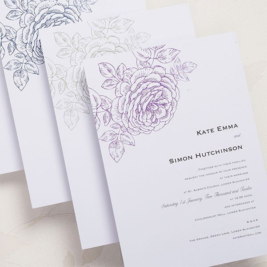 Vintage Bloom Invitations - Vintage Wedding Invitations | Confetti.co.uk