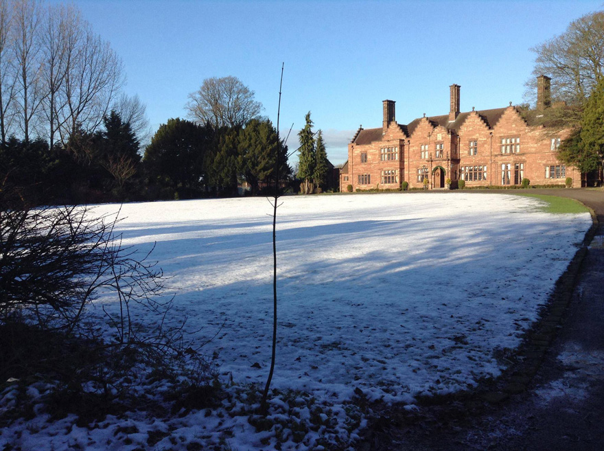 Wrenbury Hall Historic Wedding Venue in South Cheshire - Wrenbury Hall in Winter | Confetti.co.uk