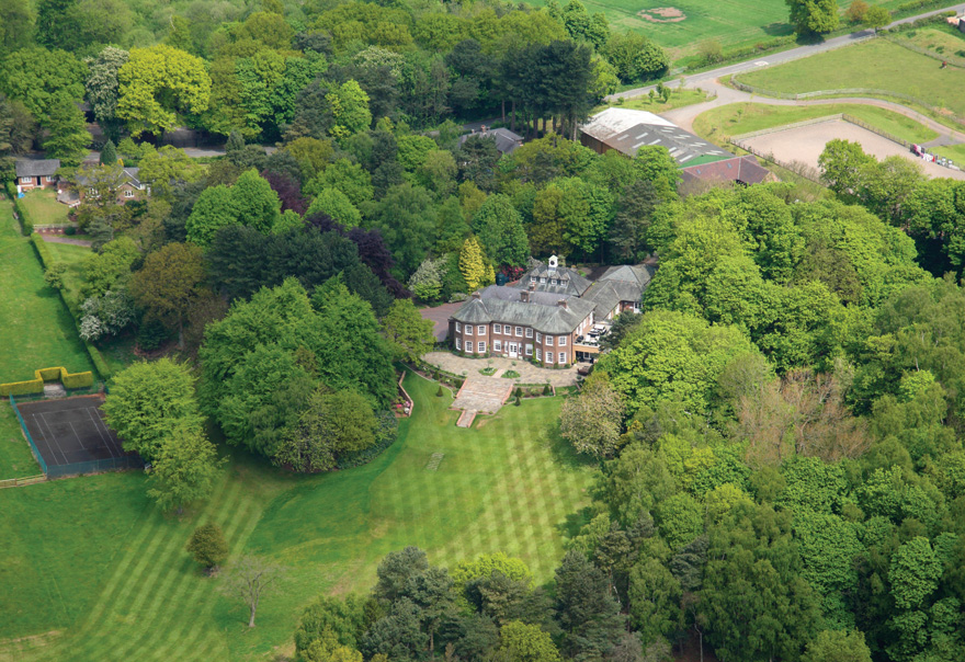 Delamere Manor Aeriel View - You Can Get Married at Gary Barlow's Old Country House | Confetti.co.uk