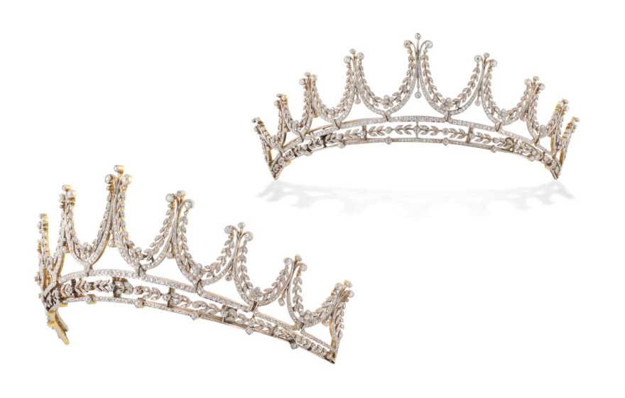 Edwardian Diamond Tiara with Floral Motifs by Bentley and Skinner - Wedding Tiaras Fit for Royalty | Confetti.co.uk