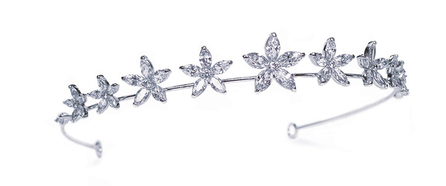 Pixie by Ivory & Co - Romantic Flower Inspired Diamond Tiara | Confetti.co.uk