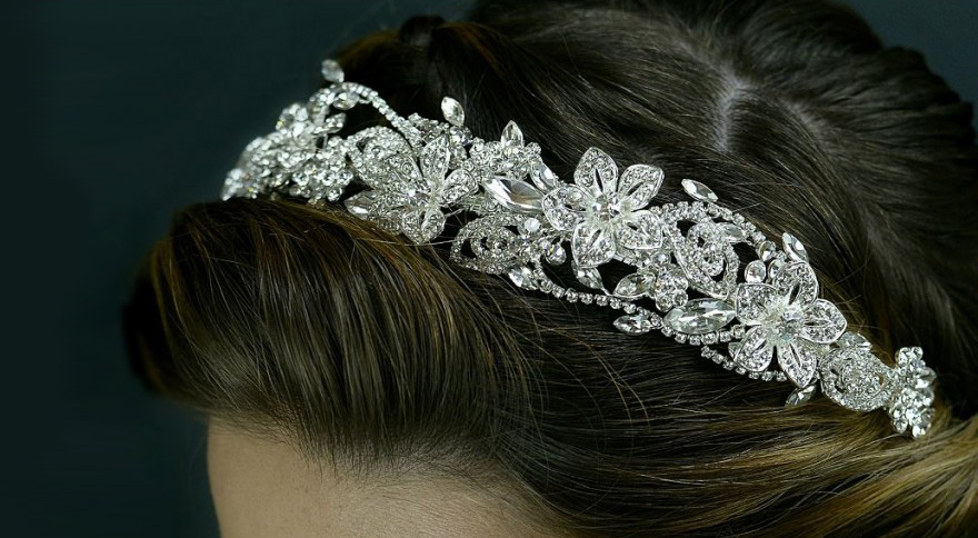 TLT4676 Tiara by Twilight Designs - Beautiful Silver Floral Wedding Tiara | Confetti.co.uk