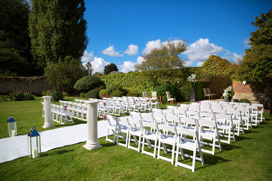 The Walled Garden at Notley Abbey - Outdoor Summer Wedding Ceremony Ideas | Confetti.co.uk