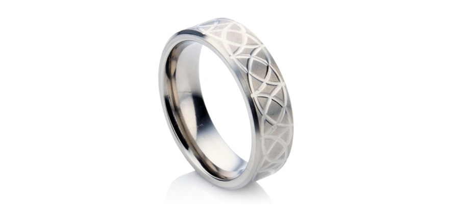 Titanium Men's Wedding Ring with Celtic Design from Wedding Rings Direct | Confetti.co.uk