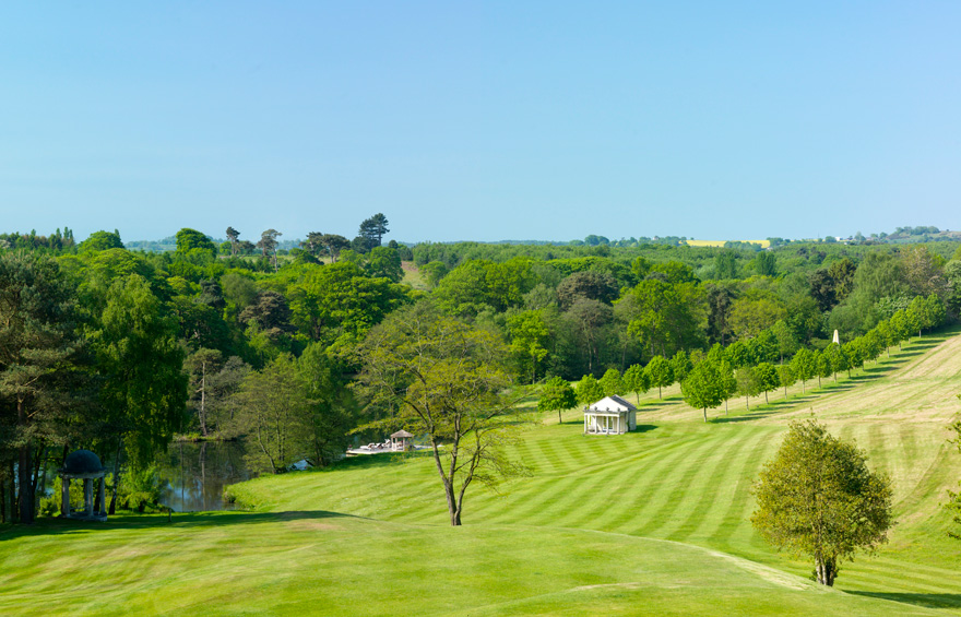 View from Delamere Manor - Beautiful Cheshire Wedding Venues with Garden Folly | Confetti.co.uk