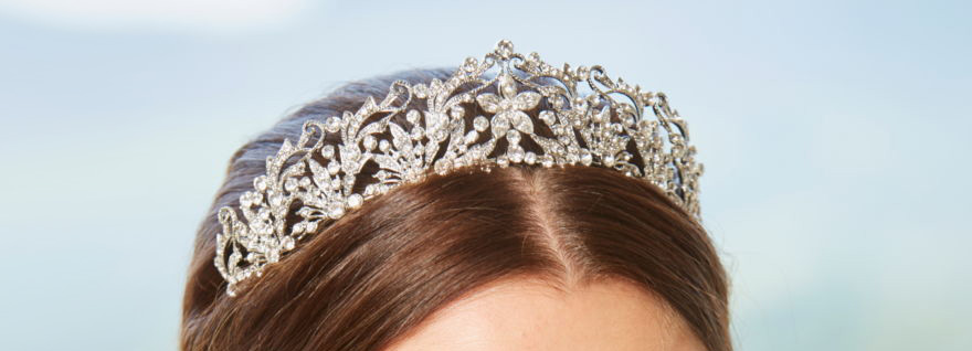 Vintage Style Wedding Tiara - Diamante Flower Centre Tiara by Linzi Jay - Ornate Tiaras | Confetti.co.uk