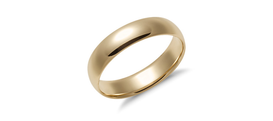 Yellow Gold Wedding Rings for Men - Mid-weight Comfort Fit Wedding Ring in 14k Yellow Gold by Blue Nile | Confetti.co.uk