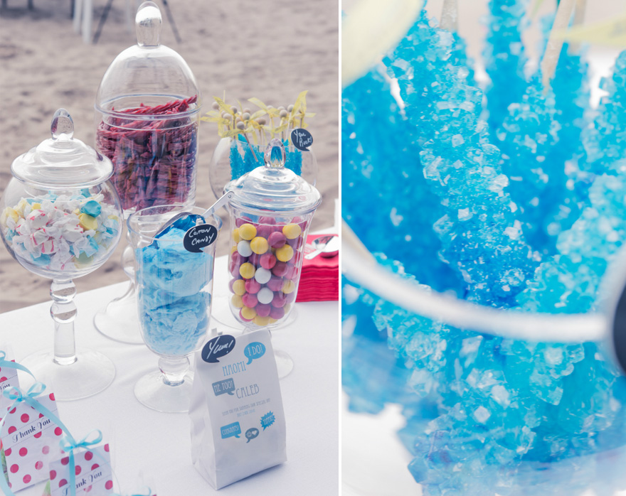 Candy Bar Wedding Idea - Beach Wedding Reception Ideas - Wedding Bar Ideas | Confetti.co.uk