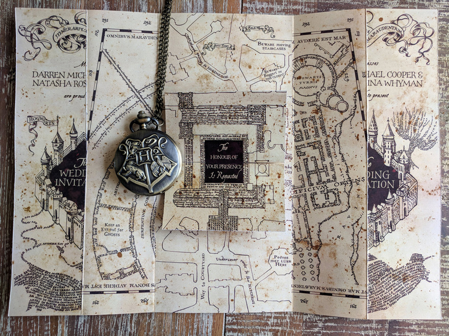 Harry Potter Marauders Map Wedding & Party Invitations by CustomDesignByDarren - Harry Potter Wedding Stationery Ideas | Confetti.co.uk
