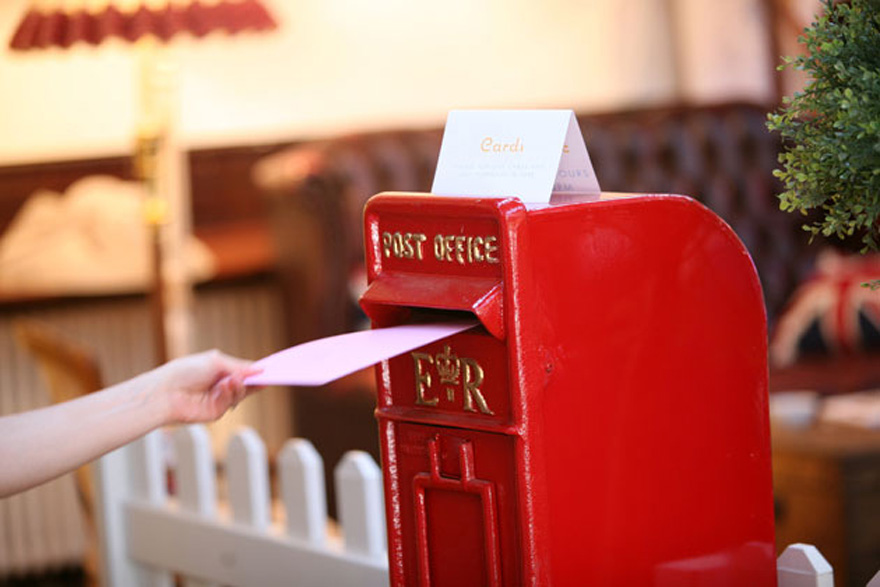 Post Office Post Boxes - Vicky and Martin's Amazing Vintage Tea Party in Brighton by Theme-Works Weddings | Confetti.co.uk
