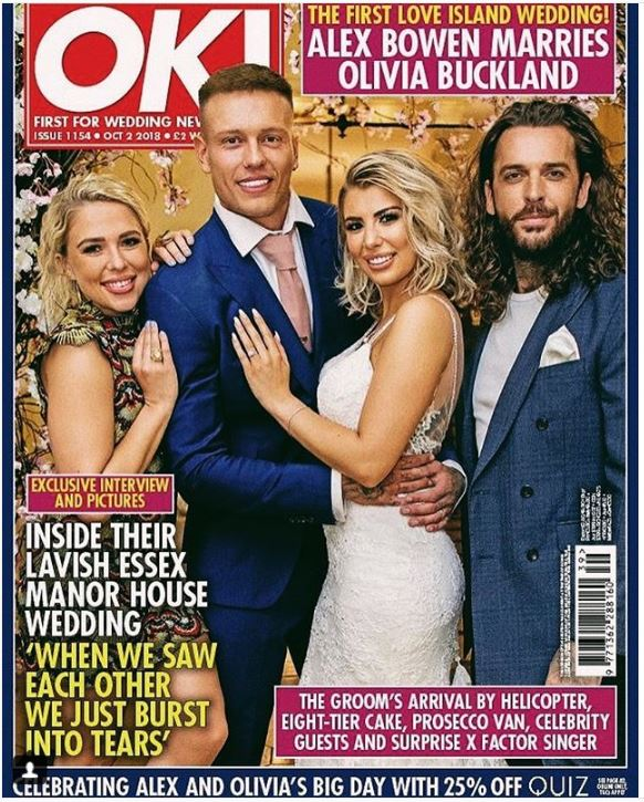 OK! Magazine cover of Olivia Buckland's wedding