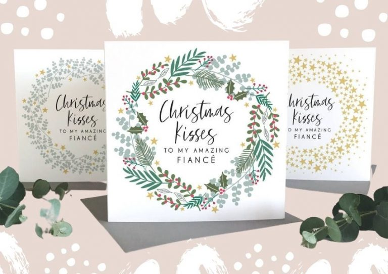 Christmas cards for fiance or fiancee