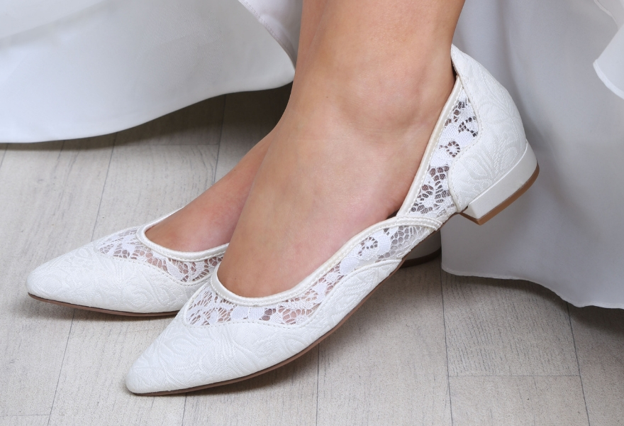 Primrose flat wedding shoe