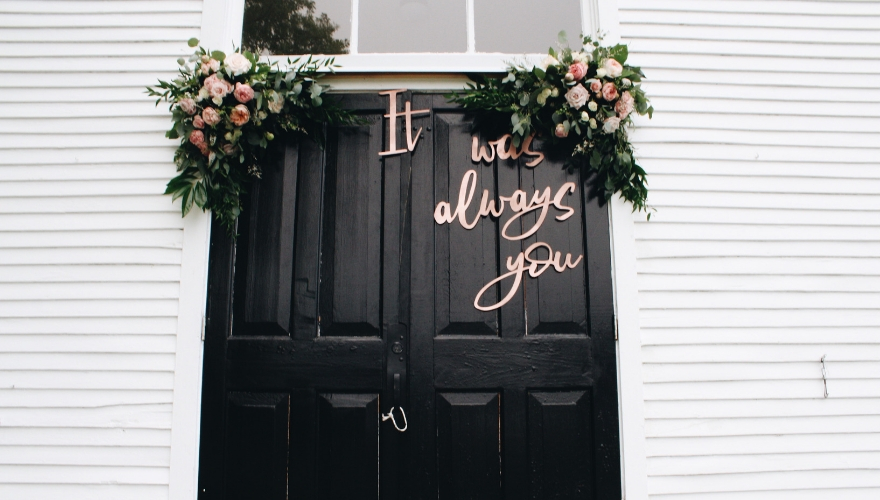 wedding venue doorway