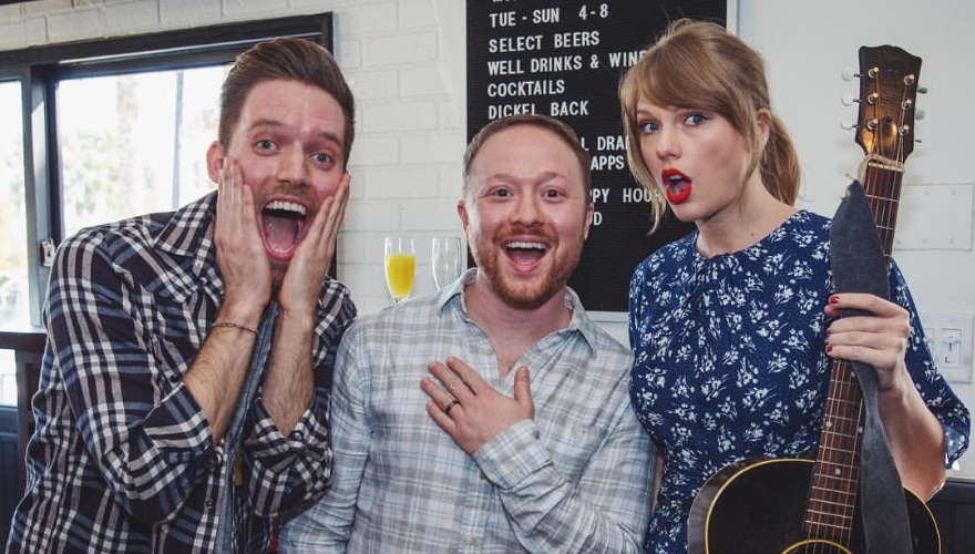 Taylor Swift Gives Surprise Performance at Couple's Engagement Party