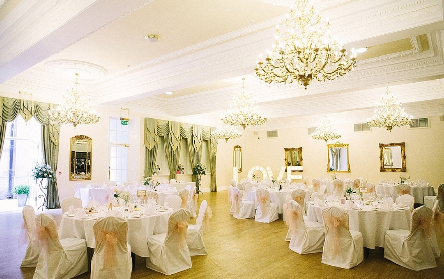 Wedding setup at Doxford Hall Hotel