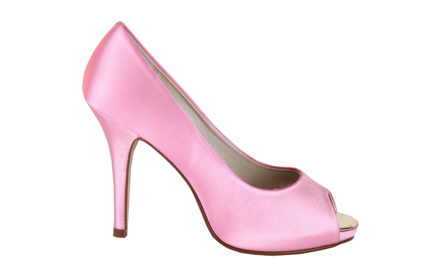 barbie pink open toe wedding shoes