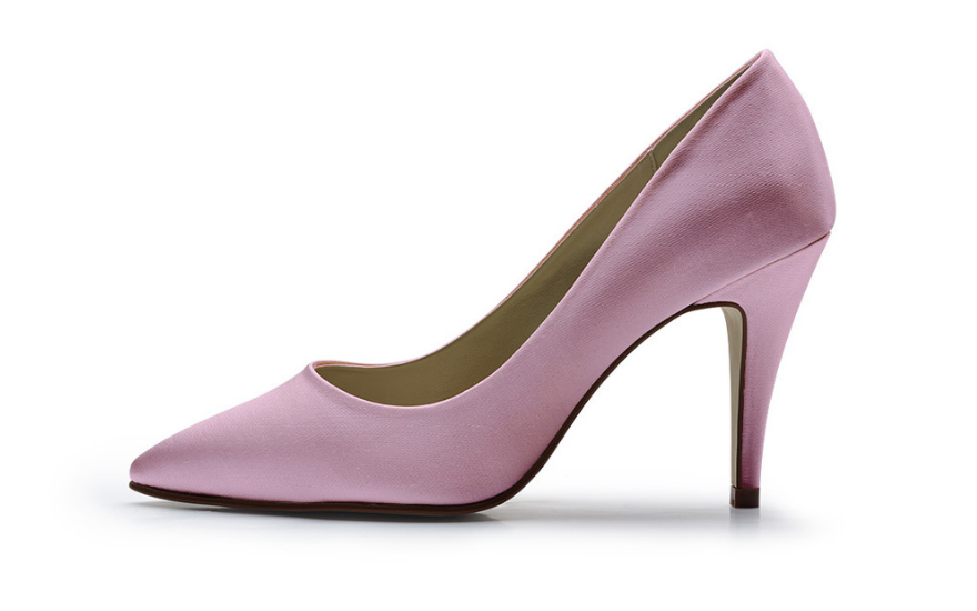 pink court shoes for weddings