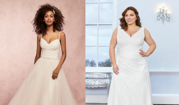 plain and simple wedding dresses