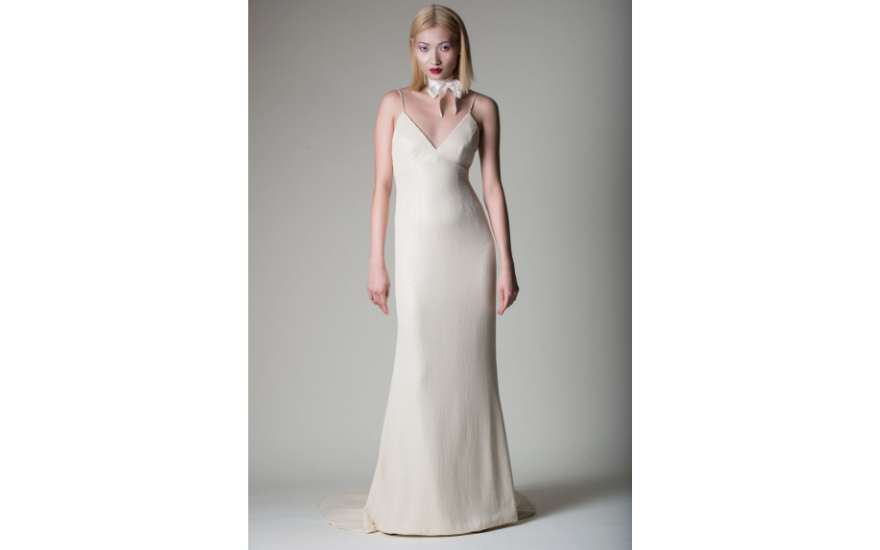 simple ivory wedding dress
