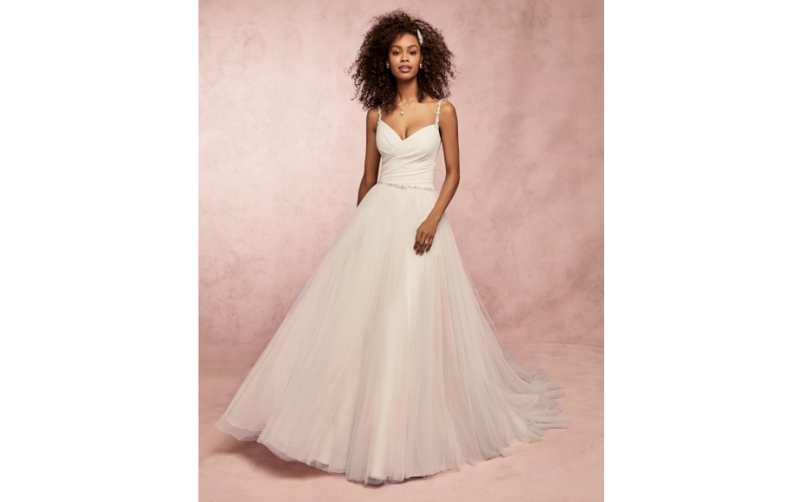 full skirted simple wedding dress