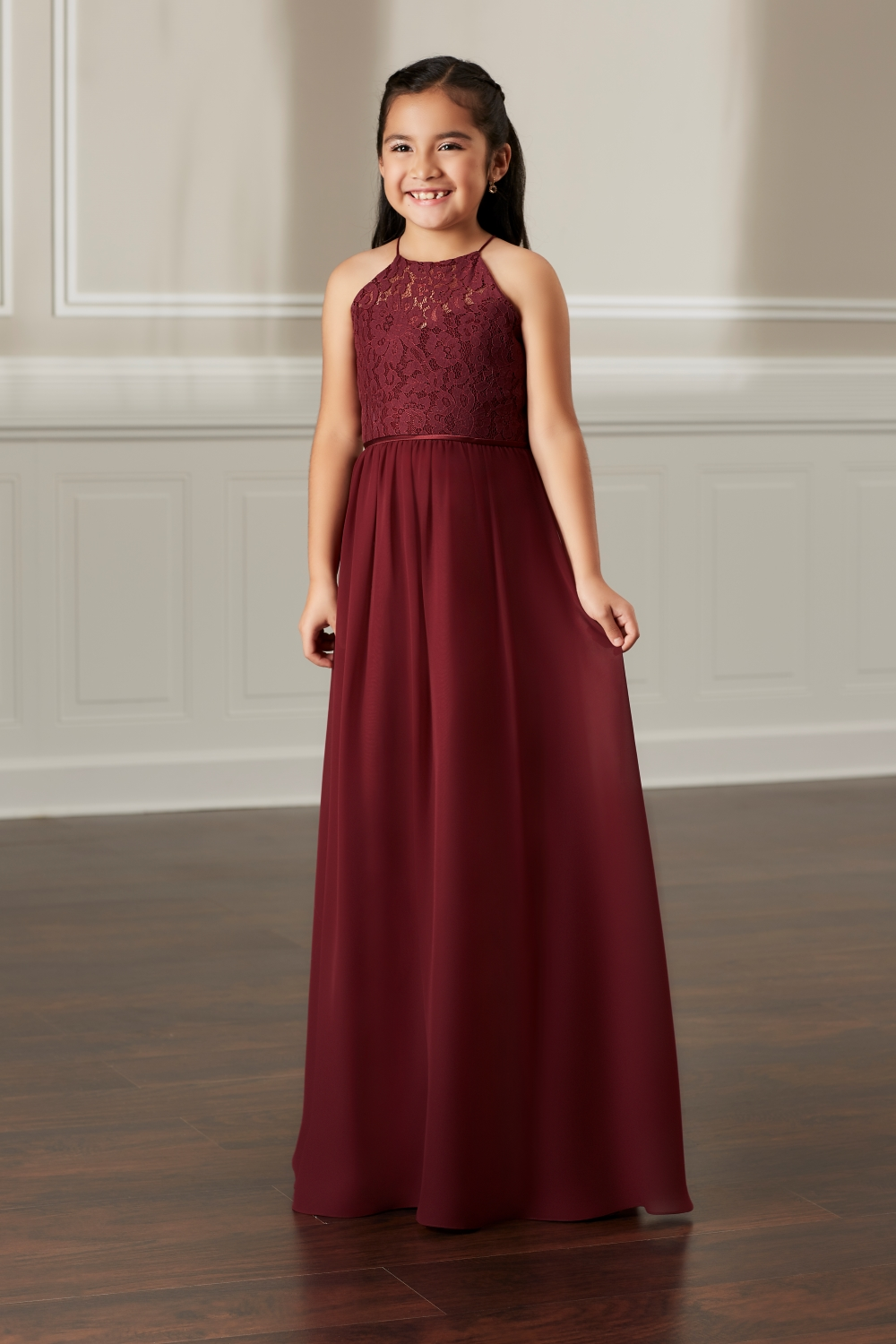 burgunday-bridesmaid-for-children