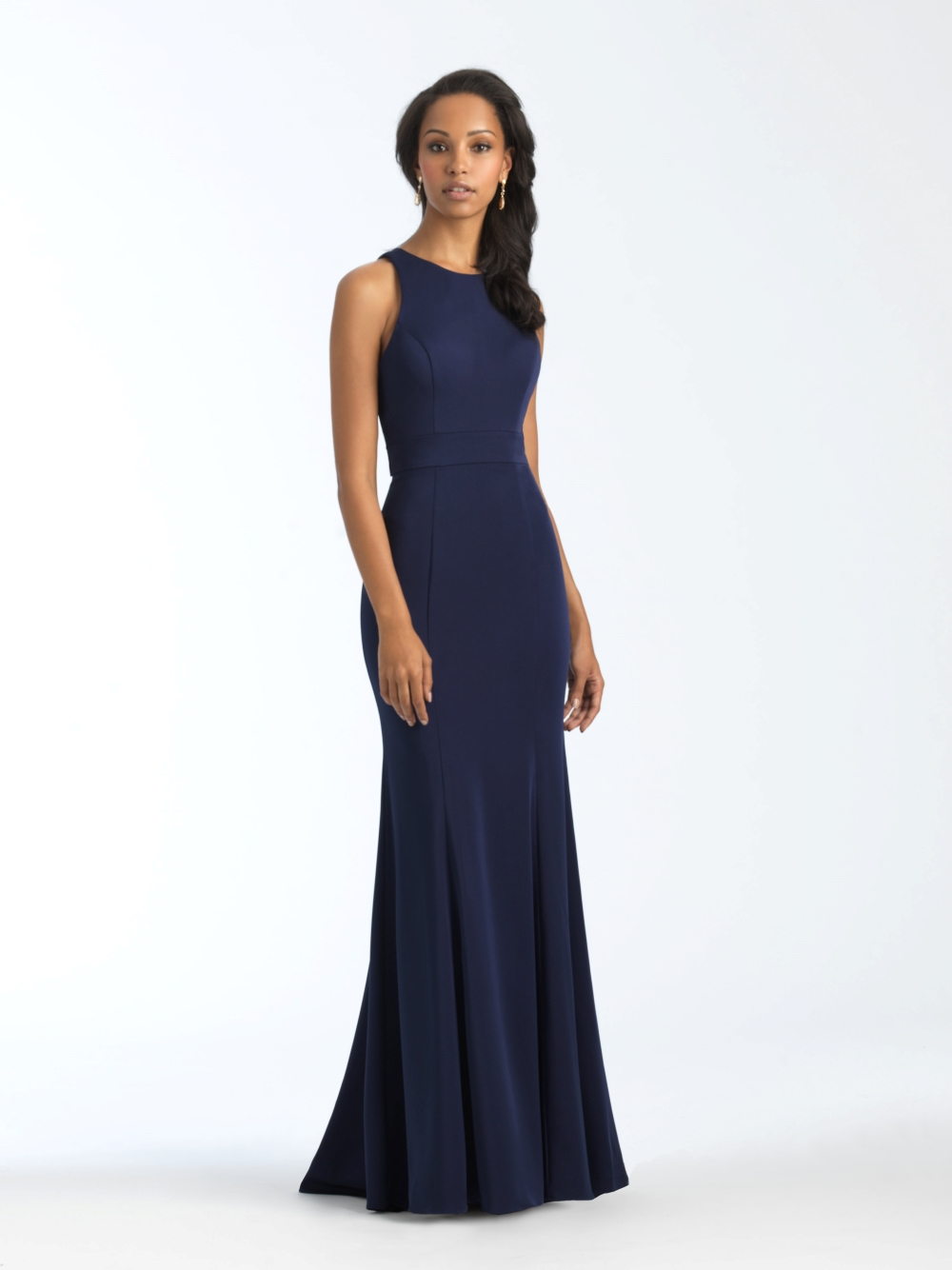 elegant-navy-bridesmaid-dress