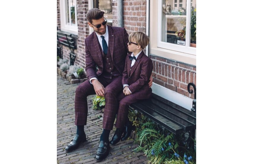 burgundy-tweed-wedding-suit