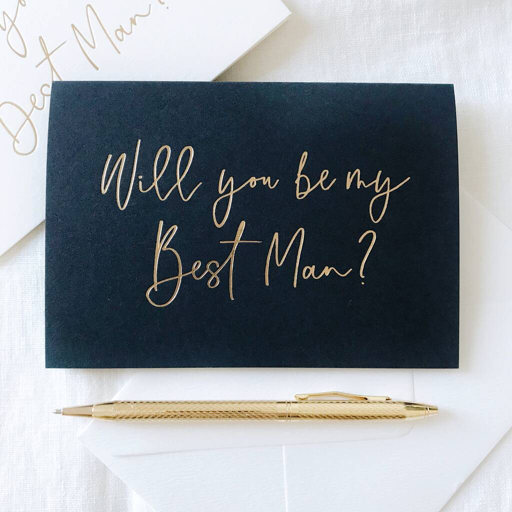 Stylish will you be my best man card