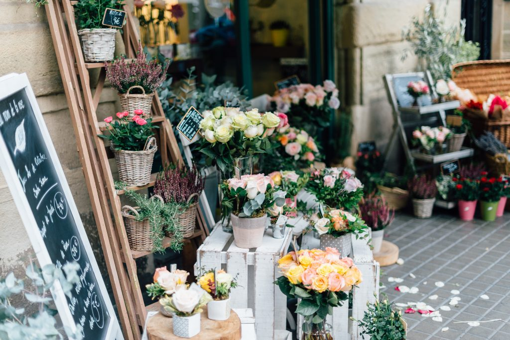 Flower market date idea
