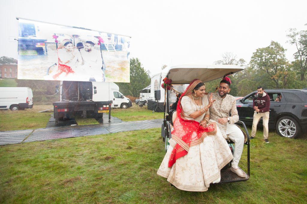 UK's first drive in wedding
