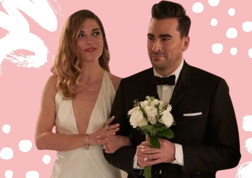 Alexis Rose Schitt's Creek bridesmaid dress